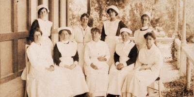 400x200 Nurses on Bath House back verandah