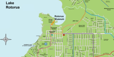 A4 Museum Map of Rotorua City