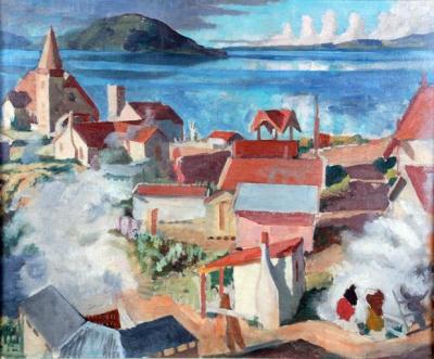 Christopher Perkins. Ohinemutu (detail), about 1933. Rotorua Museum (1996.66)